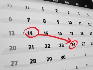 calendar with dates circled
