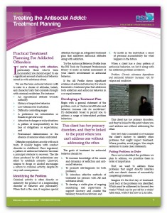 """Image of """"Treating the Antisocial Addict: Treatment Planning"""" document"""
