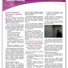 "Image of ""Treating the Antisocial Addict: Treatment Planning"" document"
