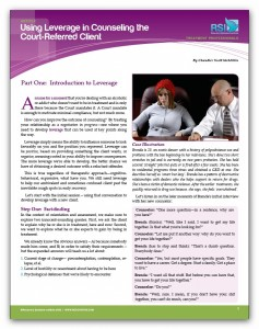 "Image of ""Using Leverage in Counseling the Court-Referred Client, Part 1: Introduction"" document"