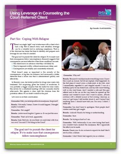 "Image of ""Using Leverage in Counseling the Court-Referred Client, Part 6: Coping With Relapse"" document"